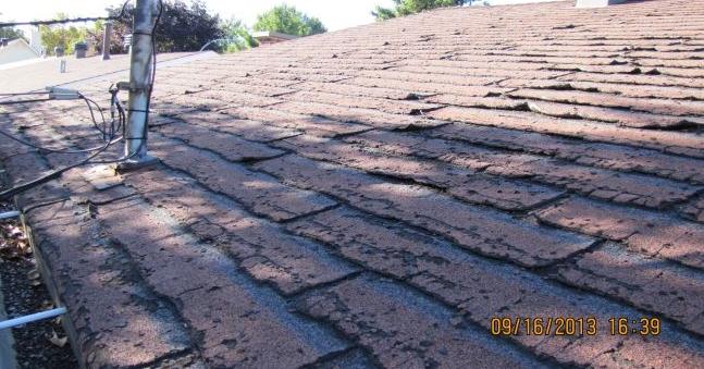 Revêtement du toit avec usure excessif